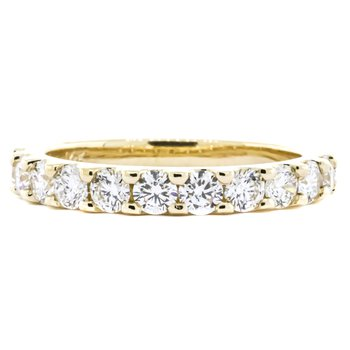 14K Gold 1.00CTW 11 Stone Diamond Ring