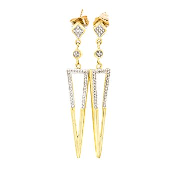 10K Gold Fashion Drop Diamond Earrings