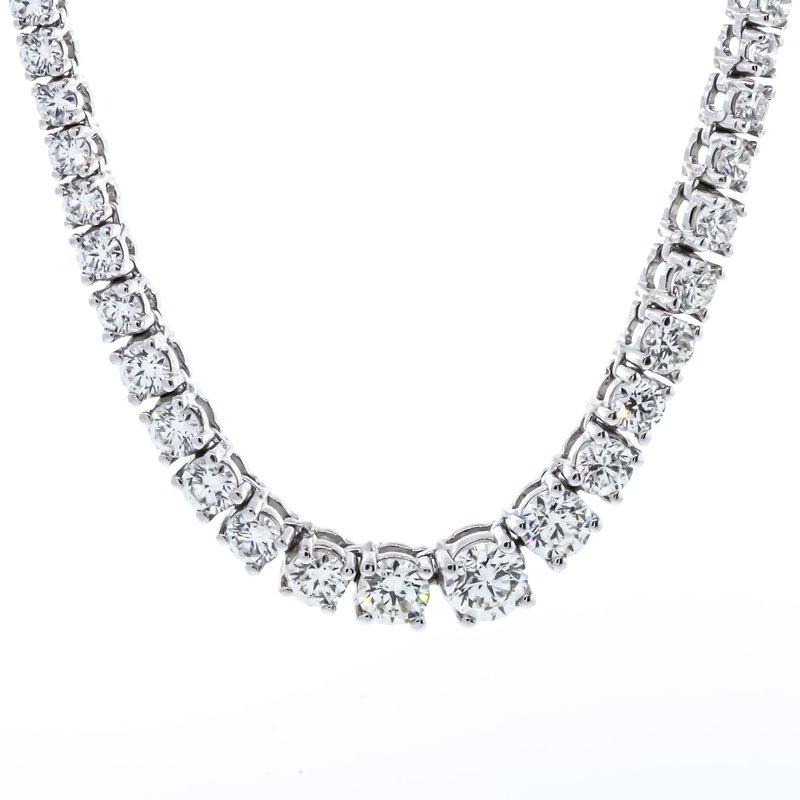 Iroff and Son Jewelers  14K White Gold Riviera Diamond 10.00CTW Necklace
