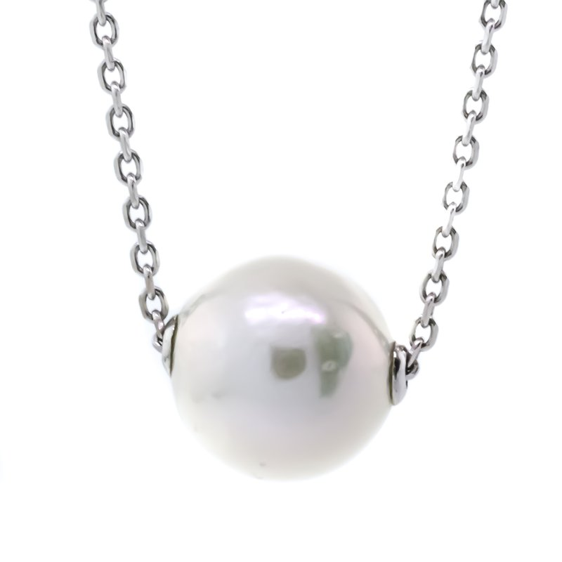 """Iroff and Son Jewelers  Sterling silver 16-18"""" Freshwater 11mm Solitaire Pearl Necklace"""