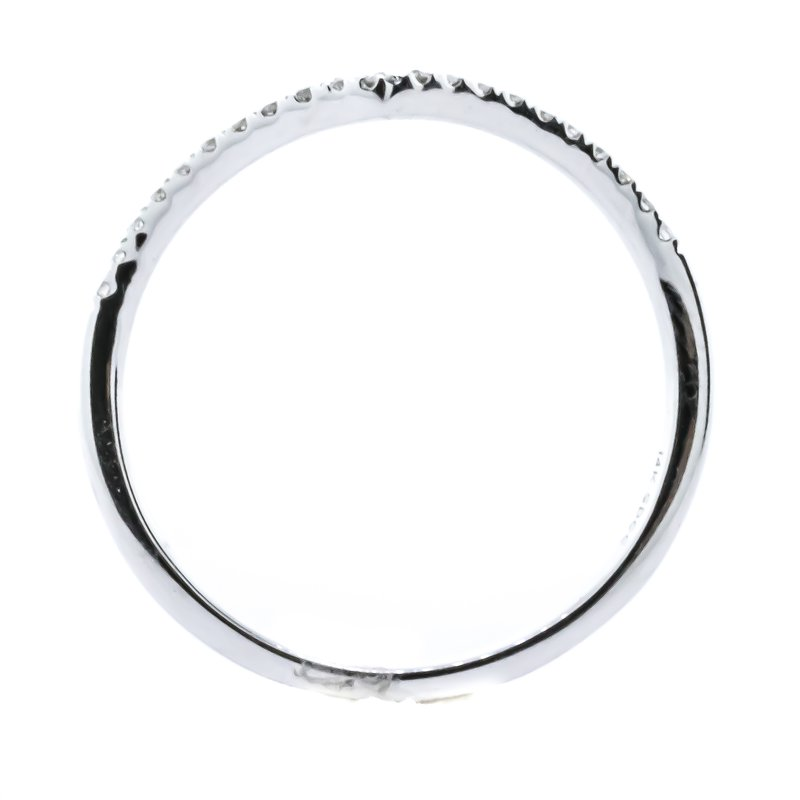 Iroff and Son Jewelers  14K White Gold Chevron Enhancer Diamond Band SZ 6.75