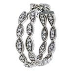 Iroff and Son Jewelers  14K White Gold Twisted Diamond Hoop Earrings