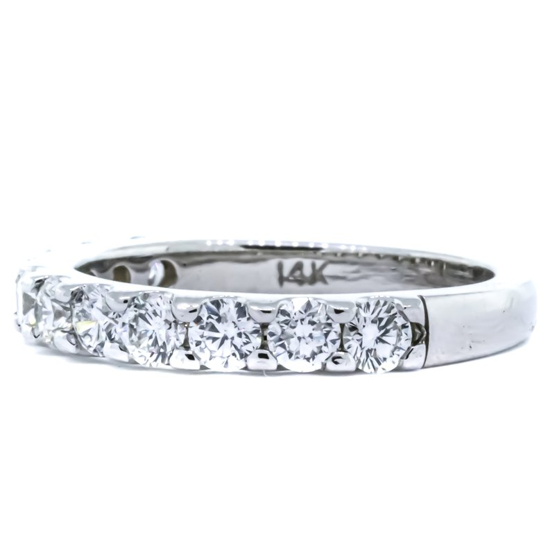 Iroff and Son Jewelers  14K White Gold 1.03CTW Diamond 11 Stone Wedding Band