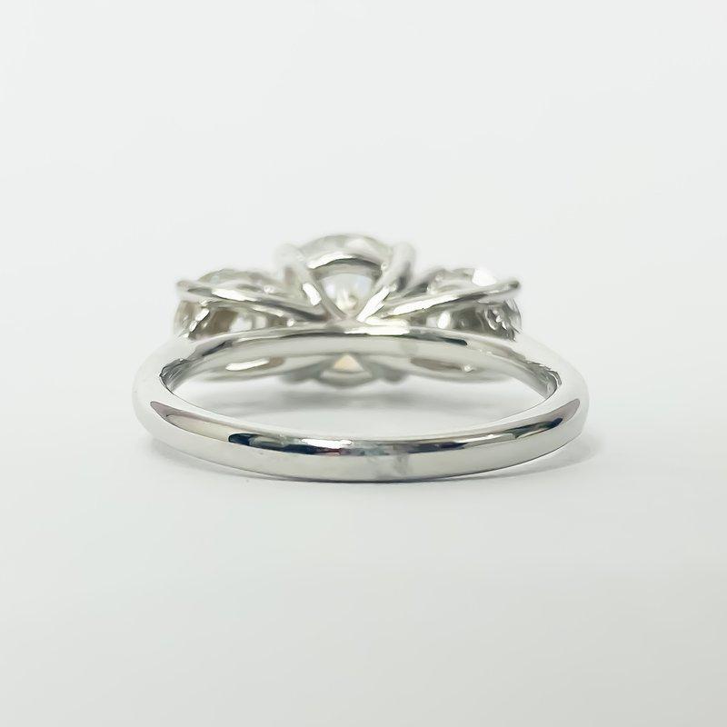 Iroff and Son Jewelers  14K White Gold Three Stone Diamond Ring 3.50CTW