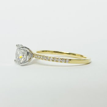 14K Gold Solitaire GIA Diamond Engagement Ring