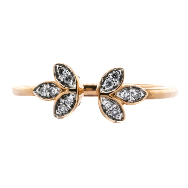 Iroff and Son Jewelers  10K Rose Gold Open Floral Diamond Ring