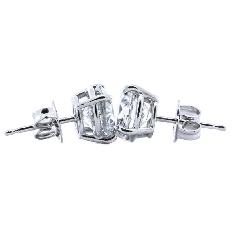 Iroff and Son Jewelers  14K White Gold Diamond Stud Earrings 3.02CTW