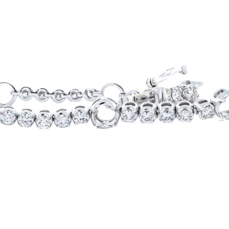 "Iroff and Son Jewelers  14K White Gold 4 Prong Open Setting Diamond Tennis Bracelet 7"""
