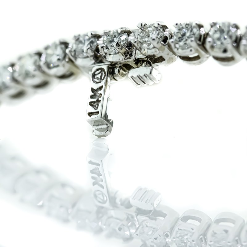 "Iroff and Son Jewelers  14K White Gold 4 Prong Set 5.05CTW Diamond Tennis Bracelet 7"""