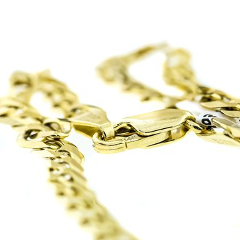 "14K Yellow Gold 4.95mm Cuban Link Light 22"" Chain"