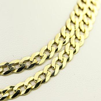"""14K Yellow Gold 4.95mm Cuban Link Light 22"""" Chain"""