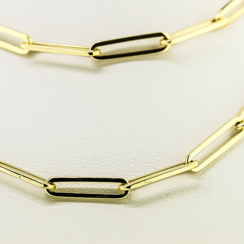 Iroff and Son Jewelers  14K Yellow Gold 3.9mm Paper Clip Chain 20""