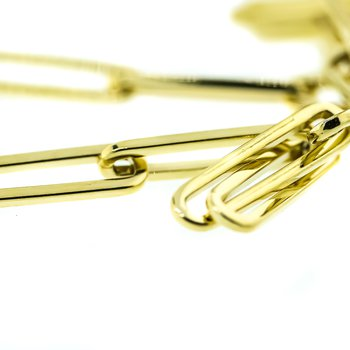 14K Yellow Gold 3.9mm Paper Clip Chain 20""