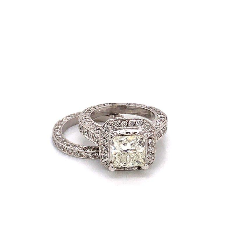 Van Atkins 14KT White Gold Diamond Ring Bridal Set