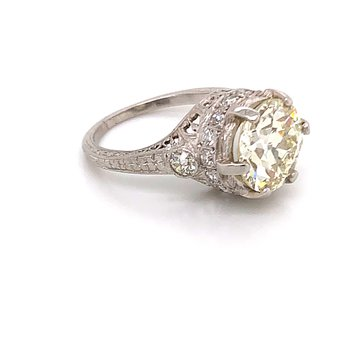 Estate Platinum Diamond Ring
