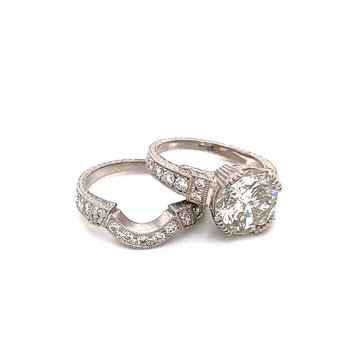 Platinum Diamond Ring Bridal Set