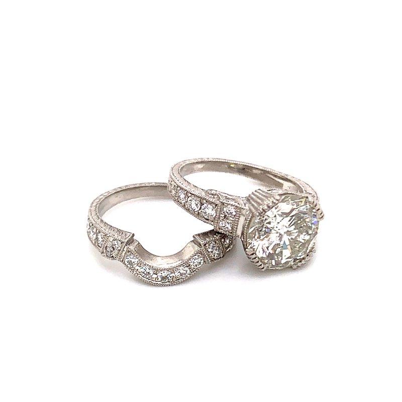 Van Atkins Platinum Diamond Ring Bridal Set