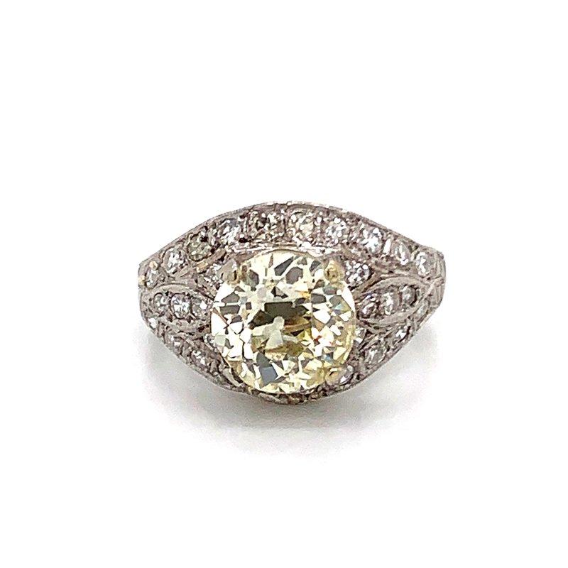 Van Atkins Estate Platinum Diamond Ring