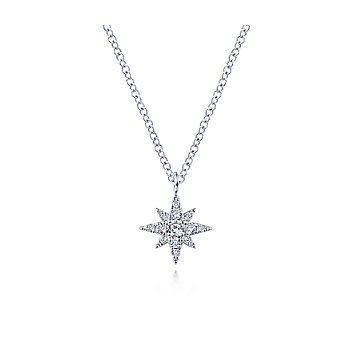 Diamond Pave Star Pendant Necklace