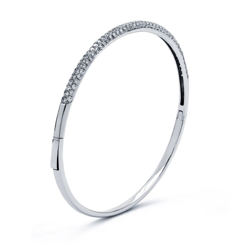 Lauray's Signature Collection White Gold Diamond Bangle