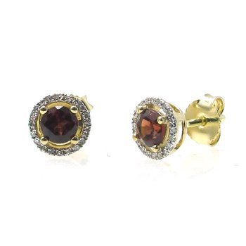 January Birthstone Garnet Studs
