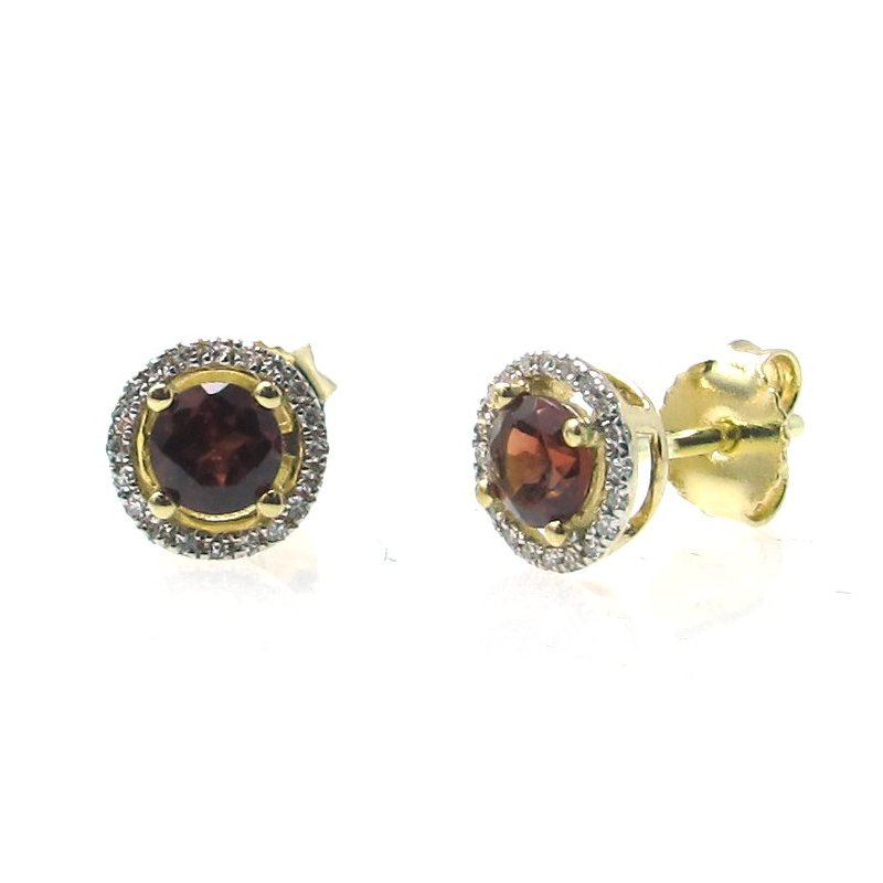 Lauray's Signature Collection January Birthstone Garnet Studs