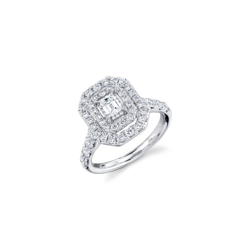 Shy Creation White Gold Diamond Engagement Ring