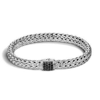 Classic Chain Black Sapphire Lava Bracelet