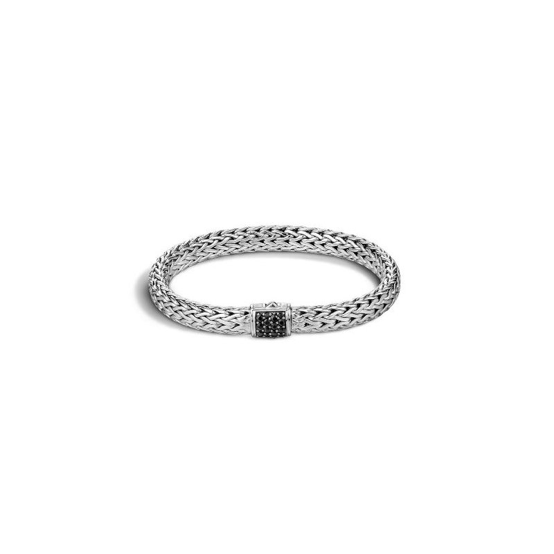 John Hardy Classic Chain Black Sapphire Lava Bracelet