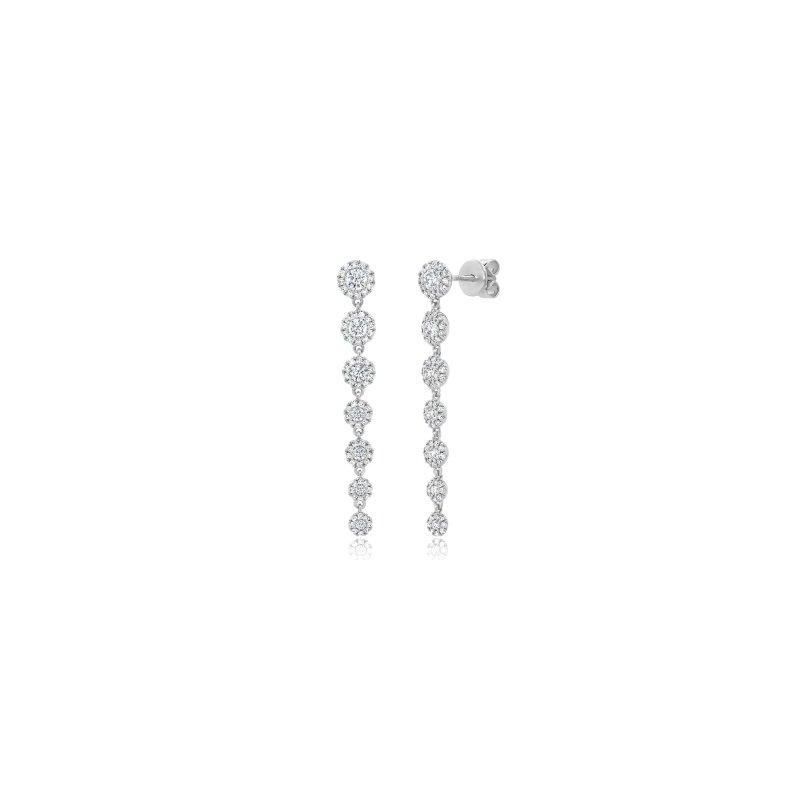 Shy Creation Diamond Drop Earrings
