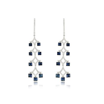 Sapphire and Diamond Earring
