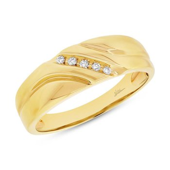 Yellow Gold Diamond Men's Band