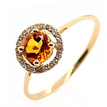 November Birthstone Citrine Ring