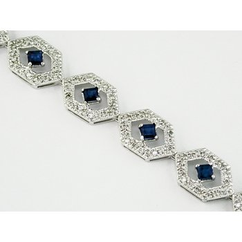 White Gold Sapphire Tennis Bracelet