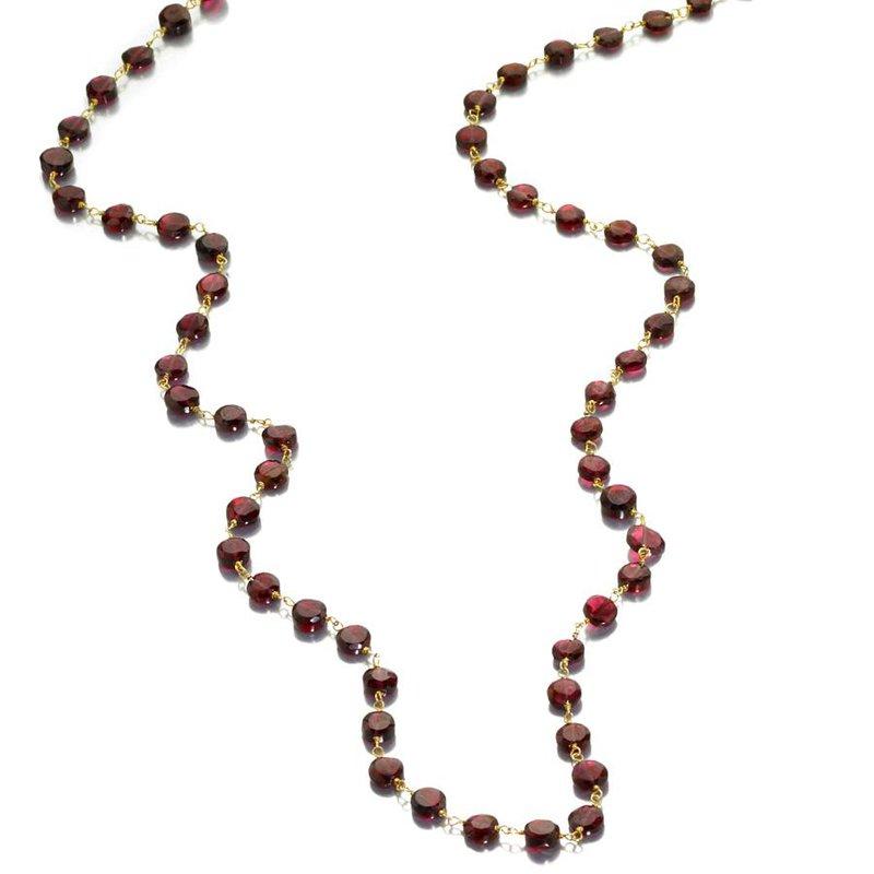 ela rae new york city Coin Shaped Garnet Necklace