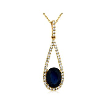 Yellow Gold Sapphire Necklace