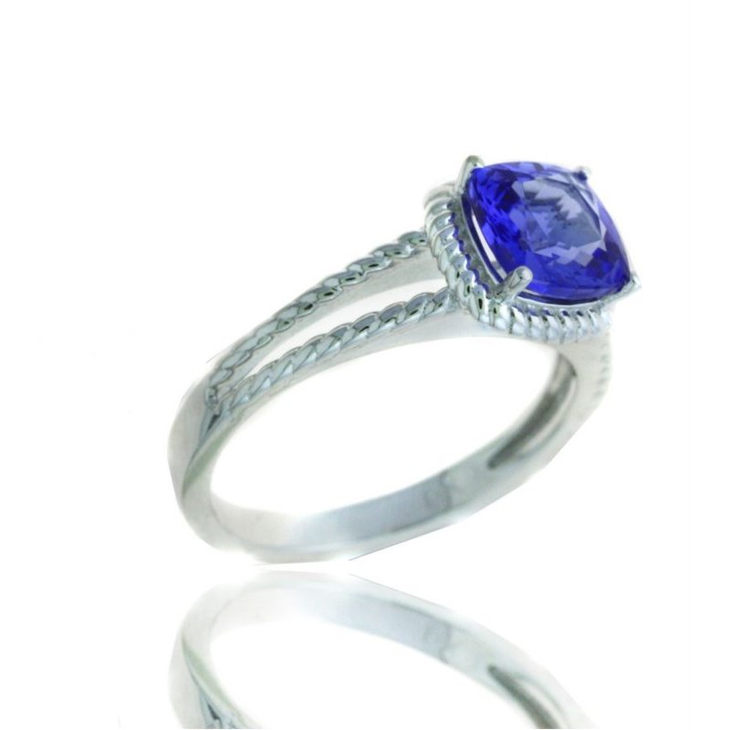 Lauray's Signature Collection White Gold Tanzanite Ring