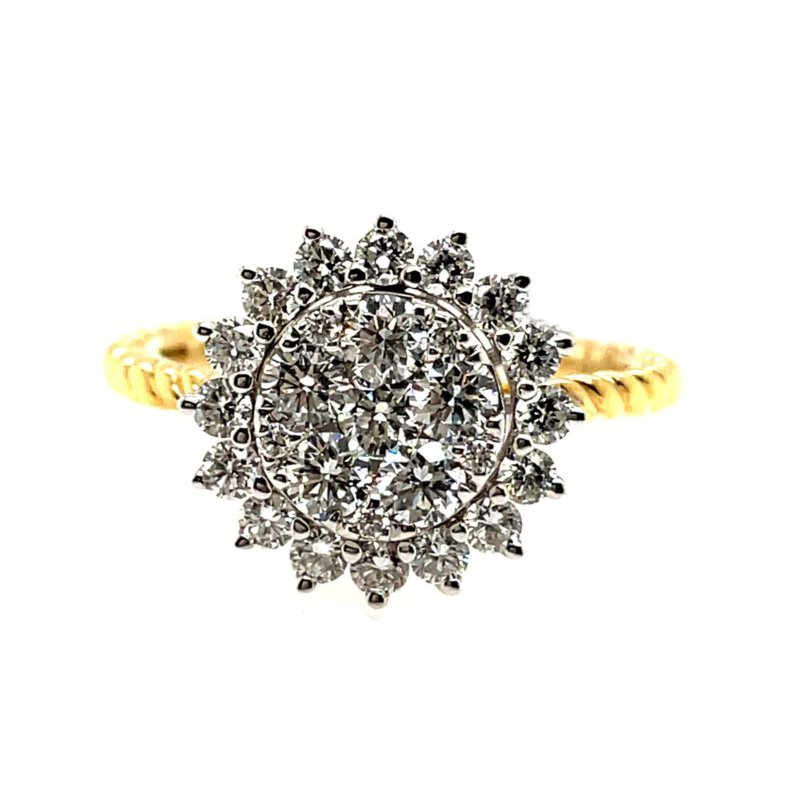 Lauray's Signature Collection Two-Tone Diamond Fashion Ring
