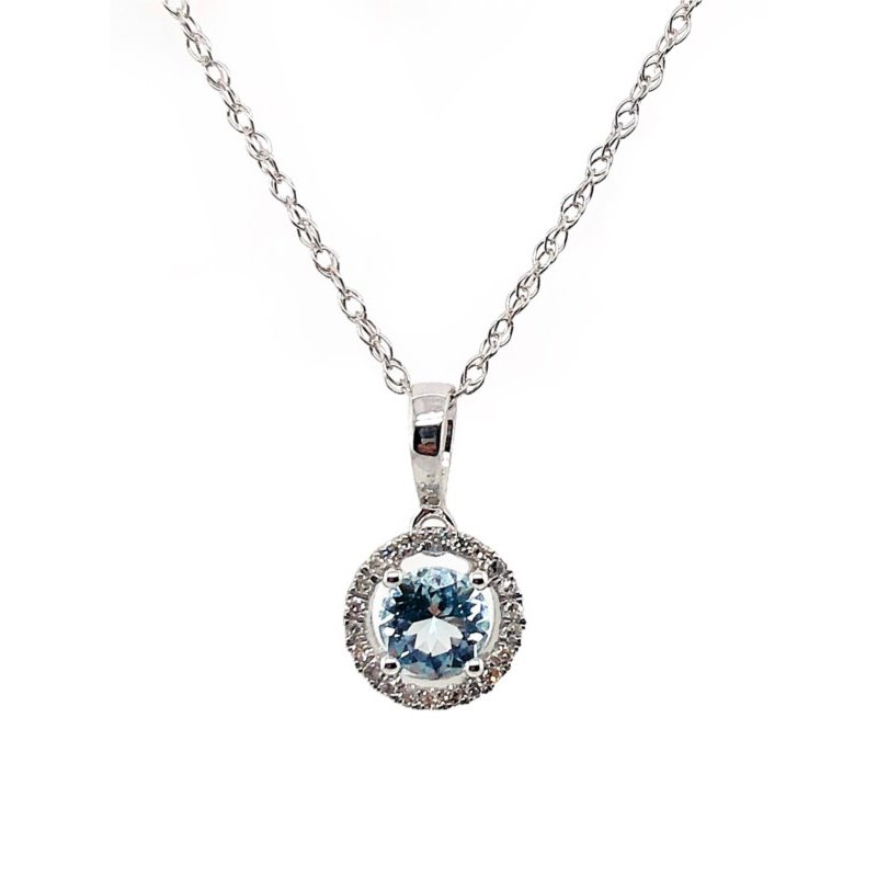 Lauray's Signature Collection March Birthstone Aquamarine Necklace