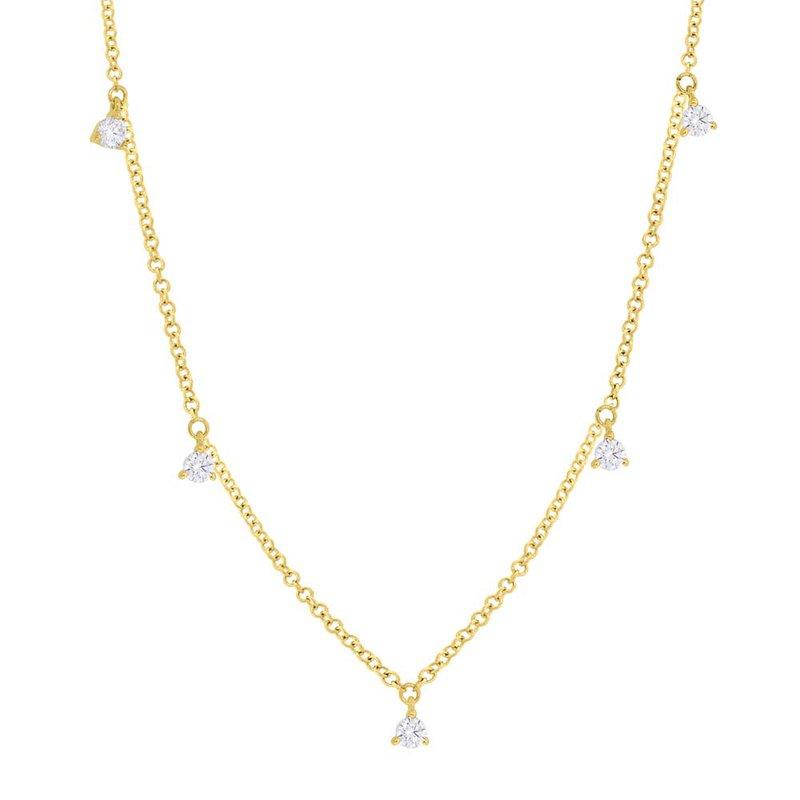 Shy Creation Yellow Gold Diamond Necklace
