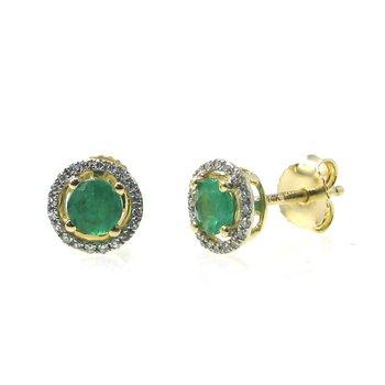 Birthstone Emerald Studs