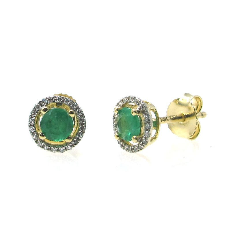 Lauray's Signature Collection Birthstone Emerald Studs