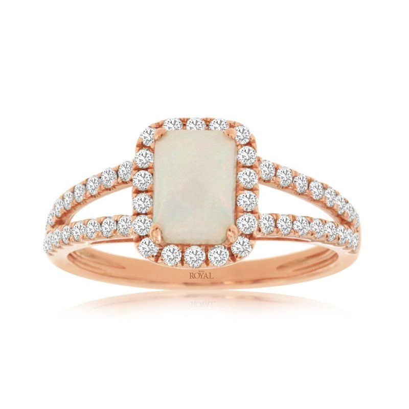 Lauray's Signature Collection Rose Gold Color Stone Ring