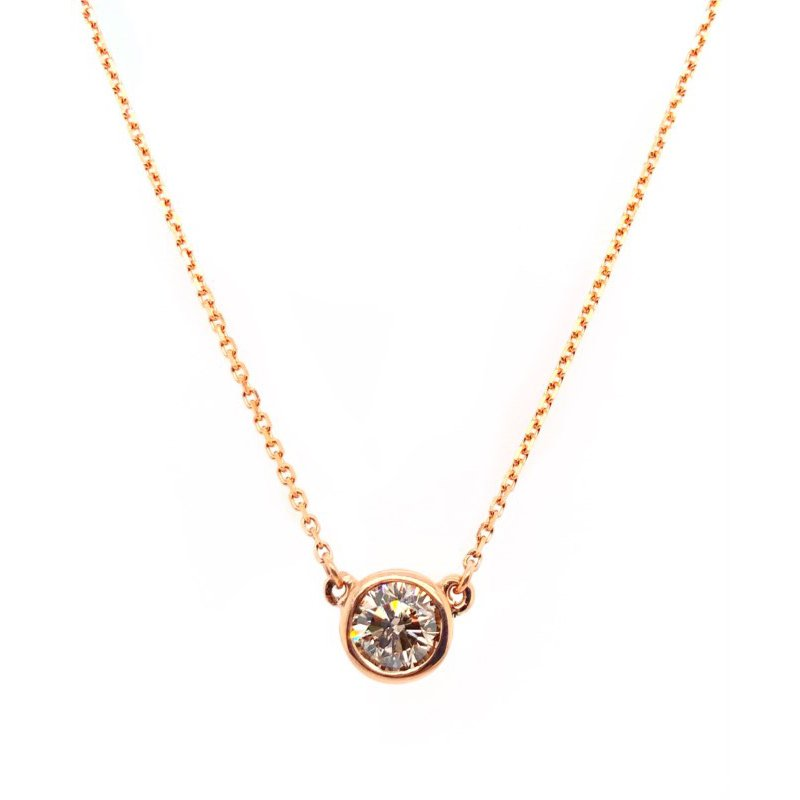 Lauray's Signature Estate Collection Rose Gold Diamond Necklace