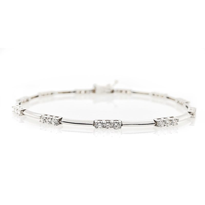 Lauray's Signature Collection White Gold Diamond Bracelet