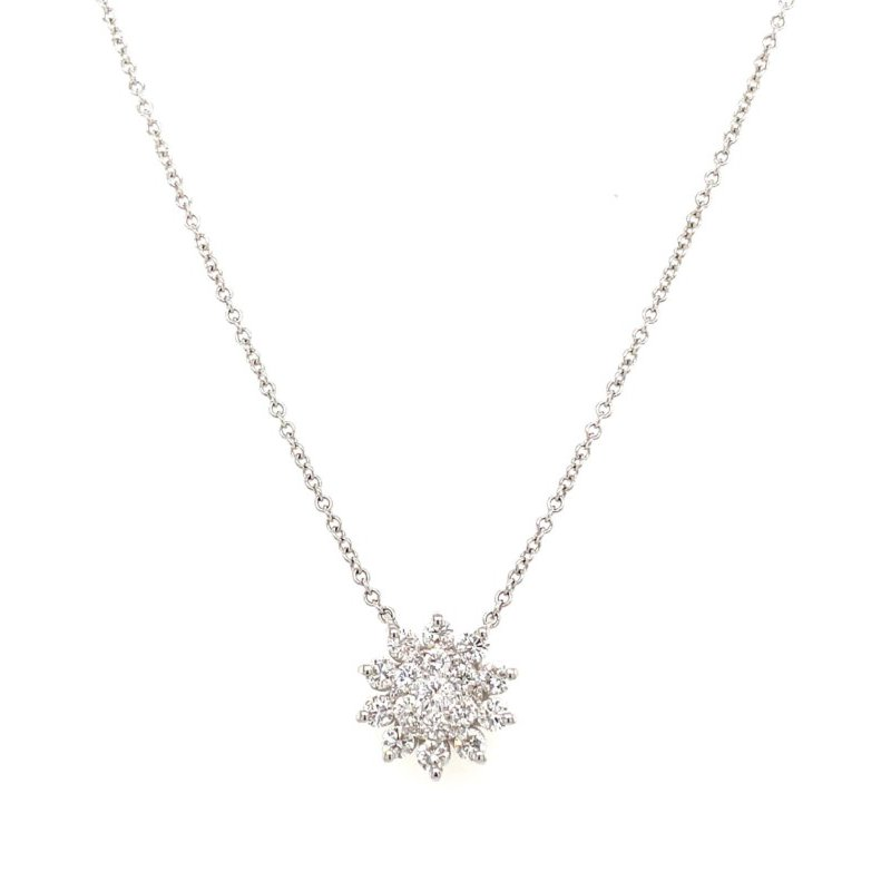 Lauray's Signature Collection White Gold Diamond Necklace