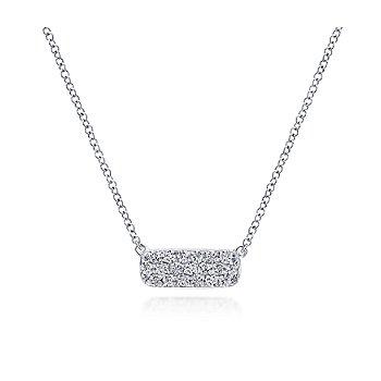 Rectangular Diamond Pendant Necklace