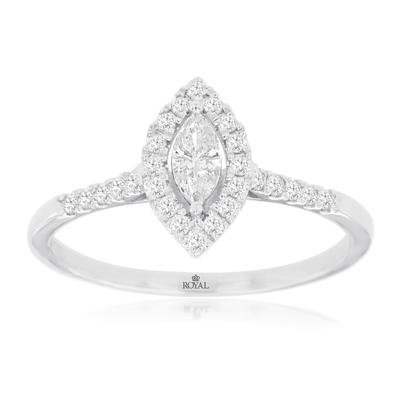 Lauray's Signature Collection White Gold Marquise Engagement Ring
