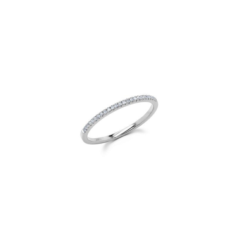 Shy Creation White Gold Diamond Band