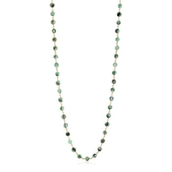 Coin Shaped Emerald Necklace